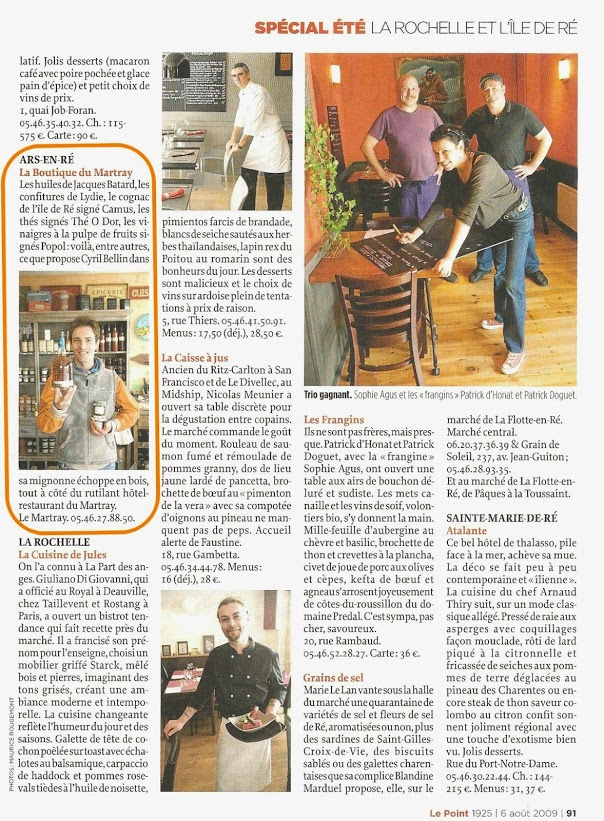 article-presse-le-point-boutique-ile-de-re